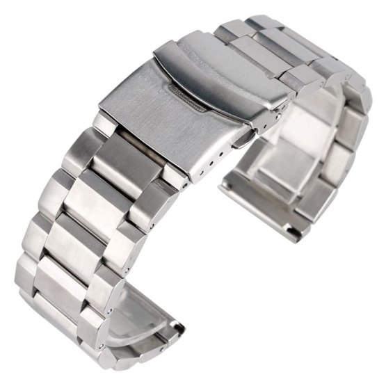 High Quality Silver Bracelet Solid Stainless Steel Watch Band