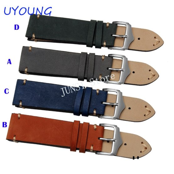 UYOUNG Watchband High Quality Scrub Genuine Leather Watch band