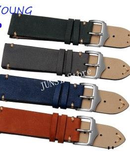 UYOUNG Watchband High Quality Scrub Genuine Leather Watch band