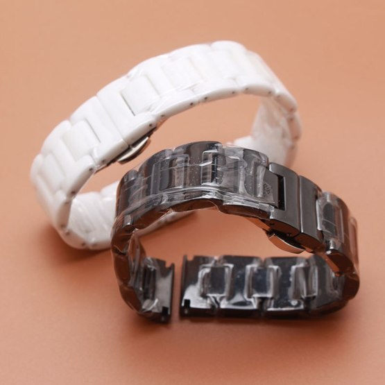 Quality Ceramics and Stainless Steel buckle Watchband 20mm 22mm Mens