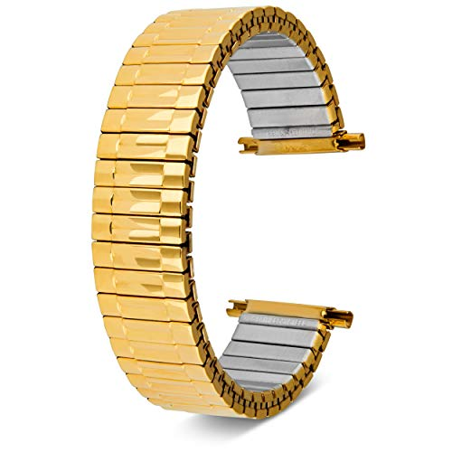 16-22mm, Men's Stretch Watch Band, Flex Radial Expansion Replacement Strap