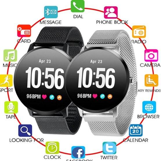 V11 Smart Watch Blood Pressure Vibration Weather Forecast