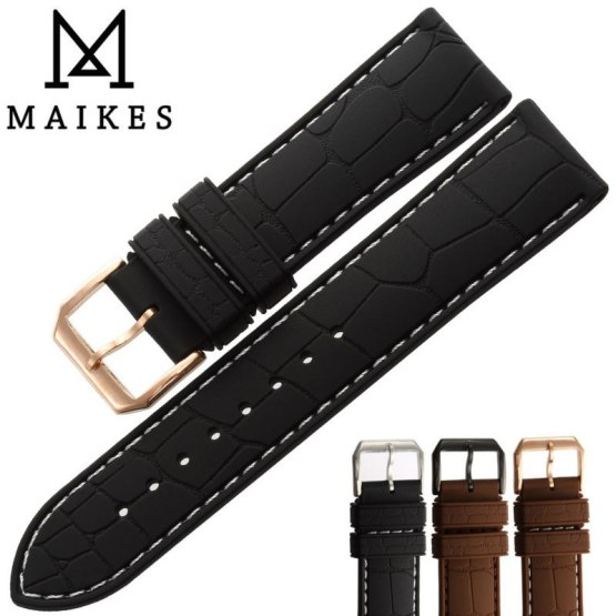 MAIKES Hot Sale New Sports Watches Strap Sweatproof Silicone Watch band