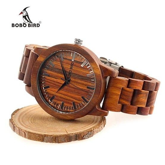 2017 New Design Luxury BOBO BIRD Brand Men Watches Wooden