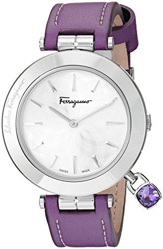 Salvatore Ferragamo Women's Intreccio Analog Display Quartz Purple Watch