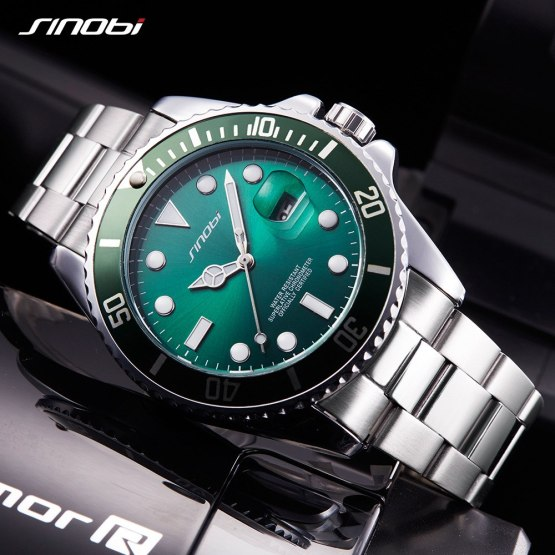 SINOBI Watches Men Top Brand Luxury Wrist Watch