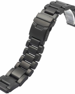 High Quality 22mm 24mm 26mm Classic Silver Black Solid Stainless Steel
