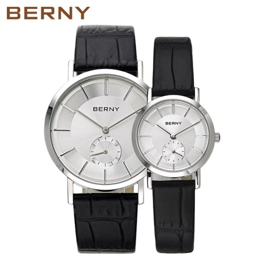 2017 Luxury Brand BERNY Couple Lovers Watches Men Women Fashion Leather