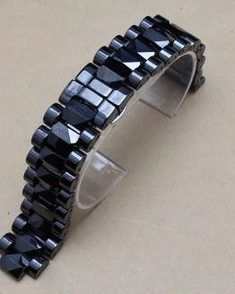 Men Size 19mm lug 10mm New High Quality Black Ceramic Watch Band