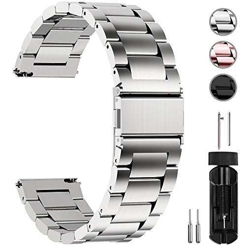 Fullmosa Watch Band 18mm 20mm 22mm 24mm, 3 Colors
