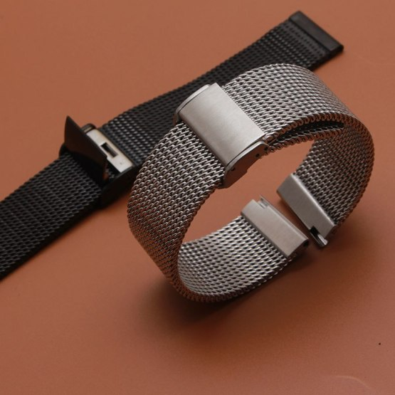 Top Quality Watchbands bracelet lady Men Stainless Steel Mesh Watch Bands