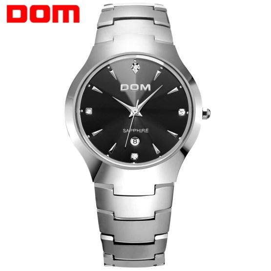 DOM watch men tungsten steel Luxury Top Brand Wrist 30m waterproof