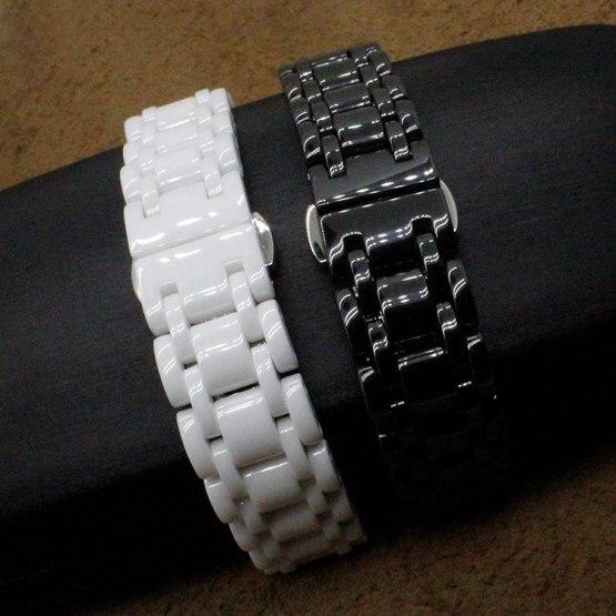 New High quality Adjustable Ceramic White strap bracelets band women men