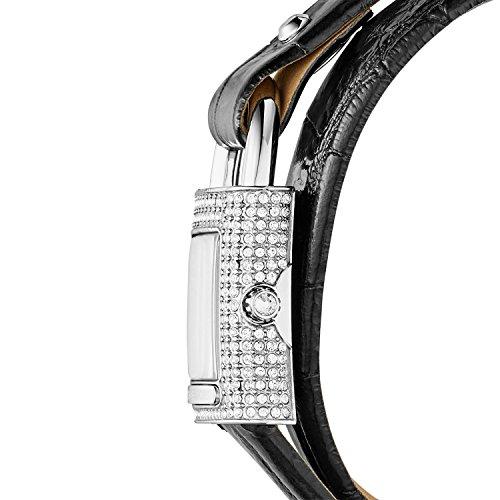 Michael Kors Women's Isadore Watch Stainless Steel Analog-Quartz Michael Kors Women's Isadore Watch Stainless Steel Analog-Quartz Leather Calfskin Strap, Black, 14 (Model: MK2705