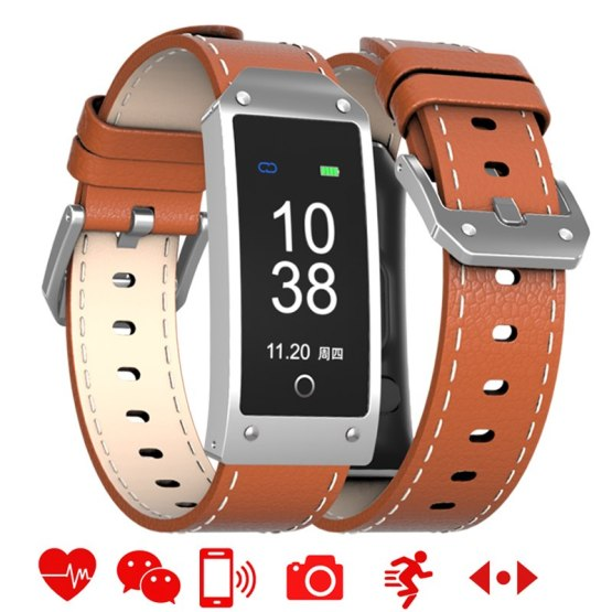 LED Touch Smart Watch Men Fashion Multifunction Bluetooth Leather Bracelet