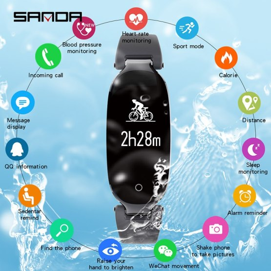 SANDA New Waterproof Smart Watch Men Sport Bluetooth Smartwatch