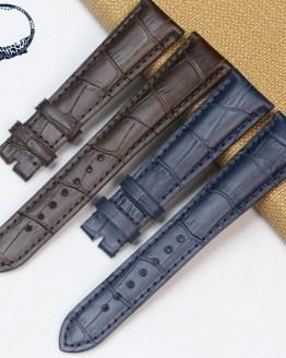 Pesno 20mm Calf Skin Top Layer Leather Watchstrap Black Dark Brown Dark Blue