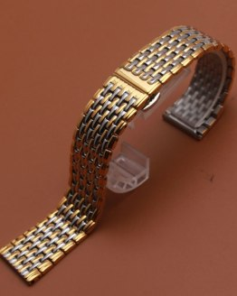 Original Silver and gold color watch Band Stainless steel metal bracelet