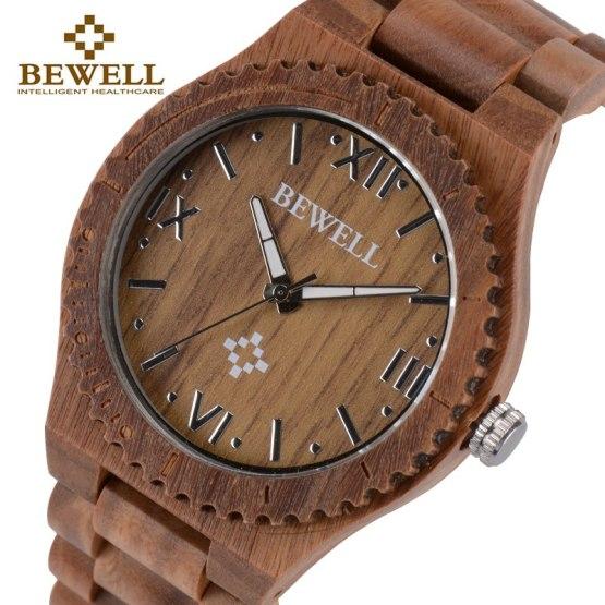 BEWELL Wooden Watch for Man Quartz Watch Men Women Wrist Watches