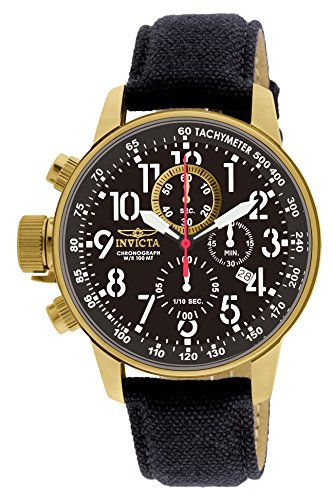 Invicta Men's Force Collection 18k Gold Ion-Plated Watch