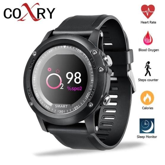COXRY Smart Waterproof Watch Men Sport Heart Rate Monitor