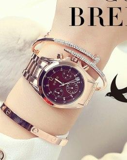 GUOU Wrist Watch Ladies Watch Rose Gold Women's Watches
