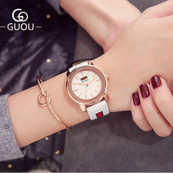GUOU Watch Women Top Luxury Brand Temperament Ladies Wrist Watches