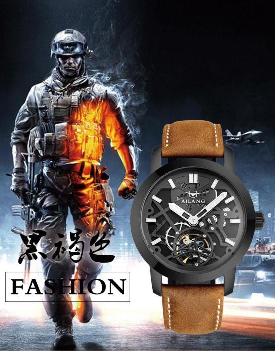 Cool AILANG Men 3D Transparent Designer Skeleton Watches