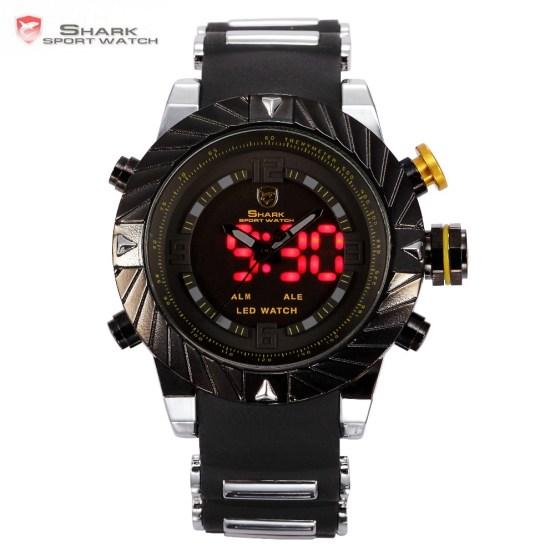 Luxury Goblin Shark Sport Watch Mens Outdoor Fashion Digital LED