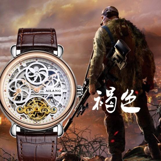 Vintage Designer Skeleton Face Men Antique Mechanical Watches