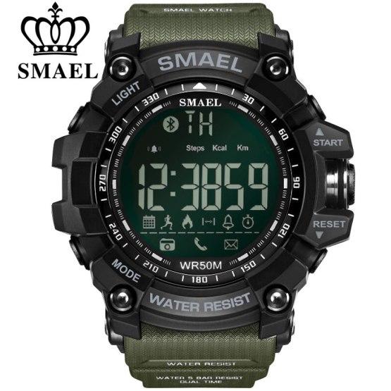 SMAEL Bluetooth Smart Watch Sport Male Clock Call Reminder