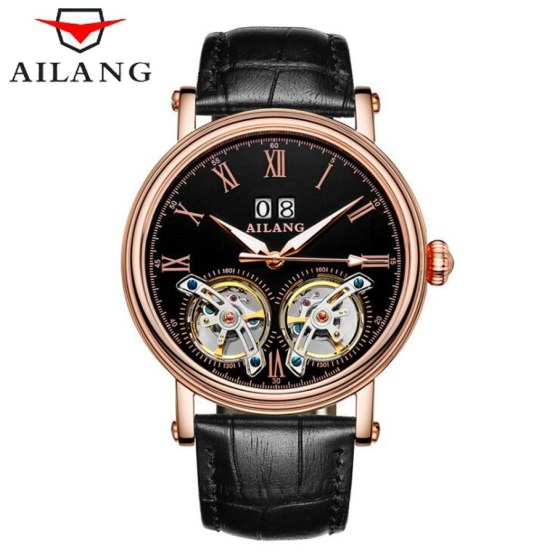 AILANG New Arrival Double Tourbillons Auotmatic Watches