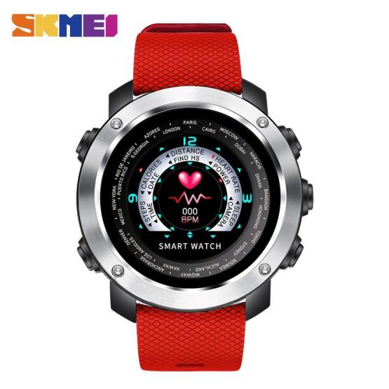 SKMEI 3D UI Digital Smart Watch Men Sport Smartwatch Heart Rate