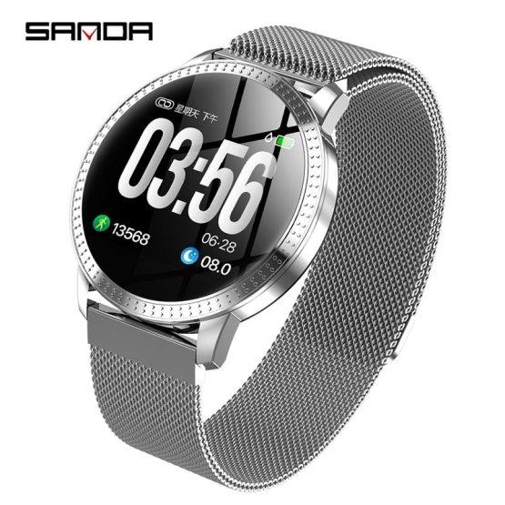 2019New SANDDA smart watch women man business fashion LED