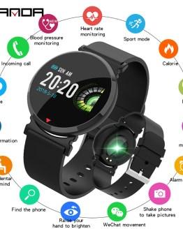 SANDA Silicone & Mesh Smart Watch E28 IP67 Waterproof Heart Rate