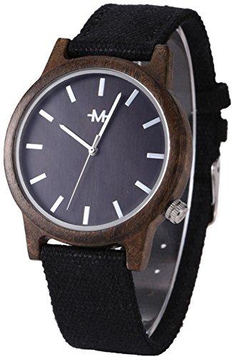 Marino Mens Canvas Wooden Watch - Wrist watches for Men