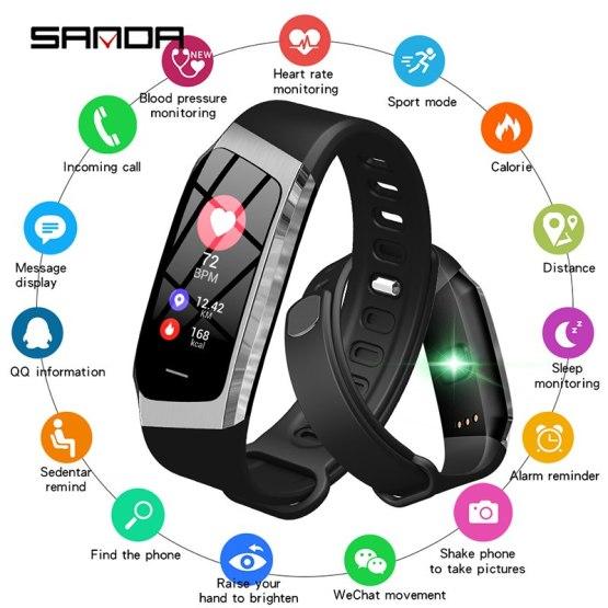 SANDA New Sport Smart Watch Men Fitness Tracker Heart Rate Blood Pressure