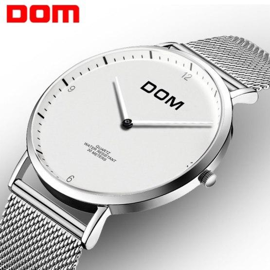 DOM Men Watches Top Brand Simple Quartz man watch Fashion Casual