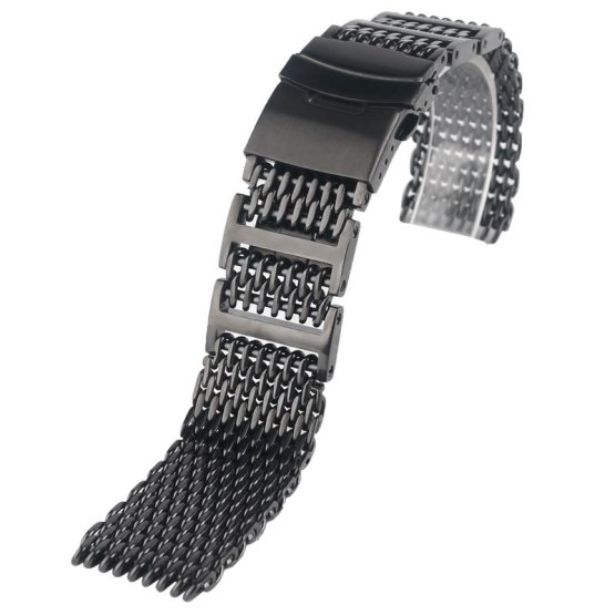 Luxury 20/22/24mm HQ Shark Mesh Watch Band Men Replacement