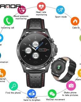 SANDA Smart Sport Watch Men Pedometer Heart Rate Monitor Blood