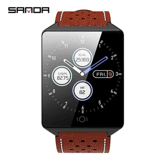 SANDA CK19 Smart watch IP67 Waterproof Tempered Glass Heart Rate Monitor