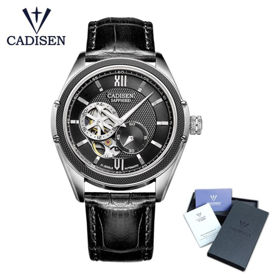 CADISEN New Luxury Golden Mechanical Automatic Wrist Watch