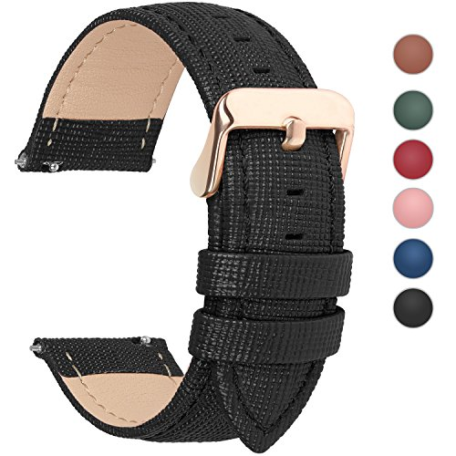 6 Colors for Quick Release Leather Watch Band