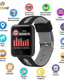 BINSSAW Men Women Smart Watch Sport Step Blood Pressure Bluetooth