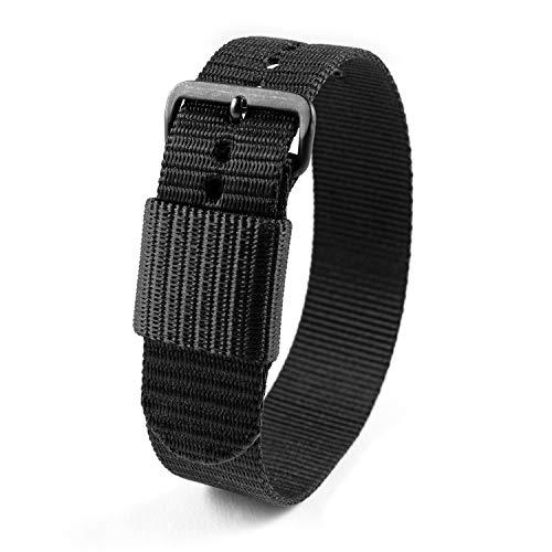 Marathon Ballistic Nylon Watch Band, Military Grade with Stainless Steel