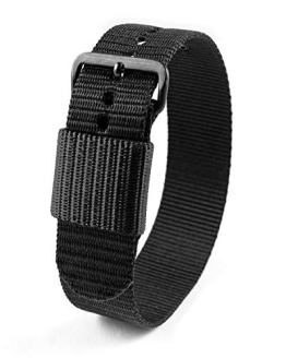 Marathon Ballistic Nylon Watch Band, Military Grade with Stainless Steel