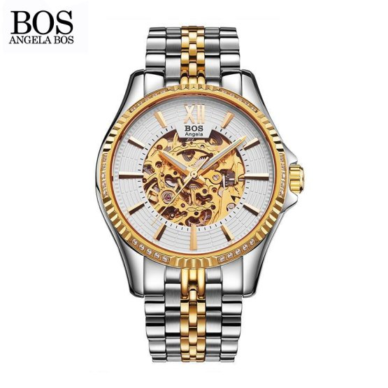 ANGELA BOS Business Watch Men Mechanical Automatic Stainless Steel
