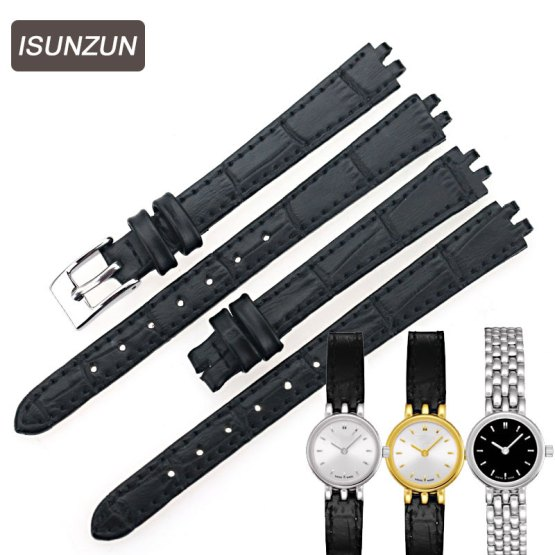 ISUNZUN Women Watch Band For Tissot Genuine Leather Watchband