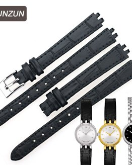 ISUNZUN Women Watch Band For Tissot Genuine Leather Watchband