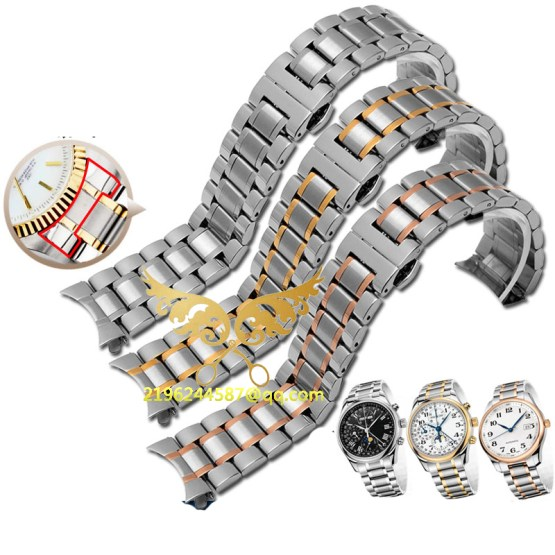 Free shipping Hot Sale Silver Watch straps 19mm 20mm 22mm Stainless Steel